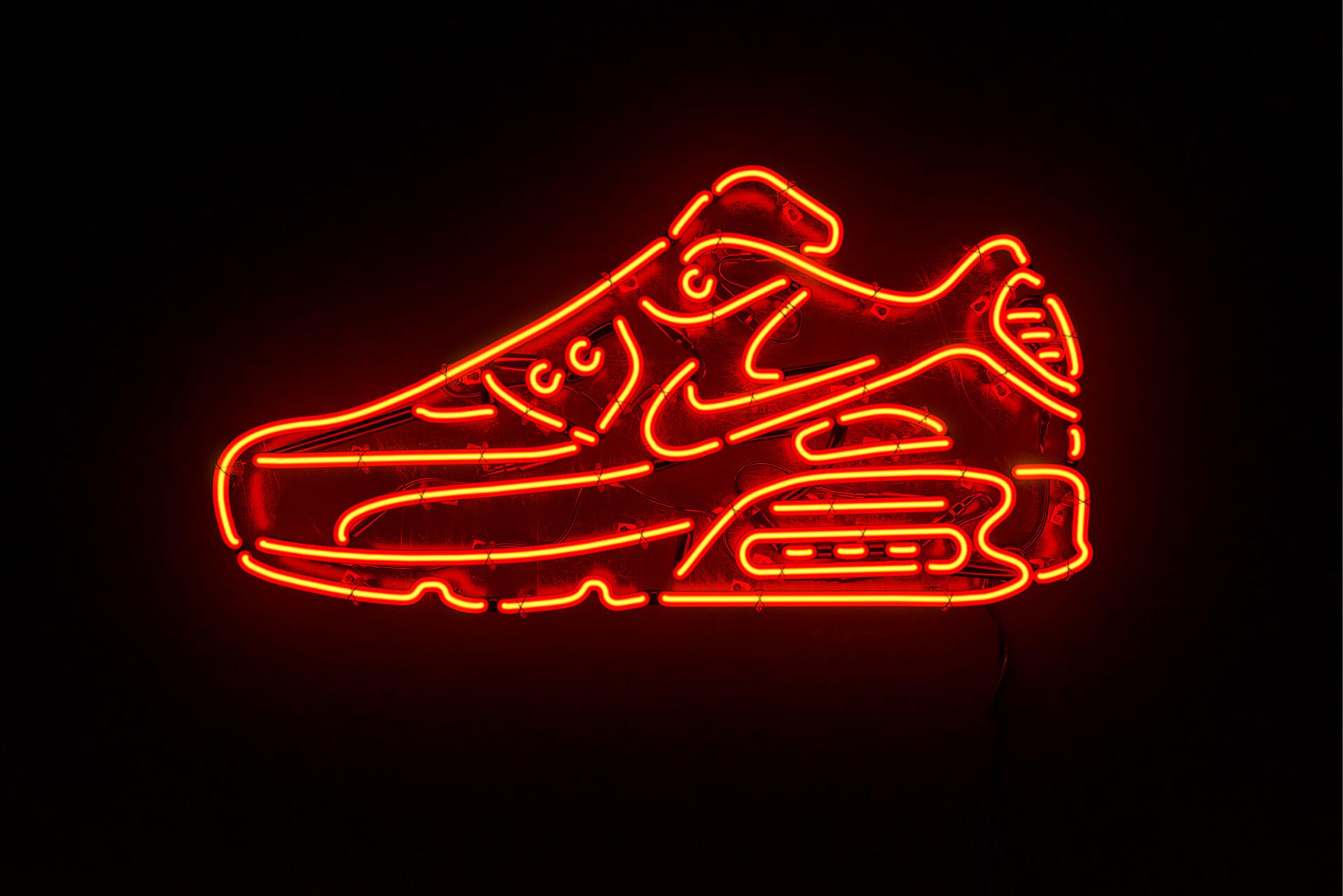 nike air max neon sign