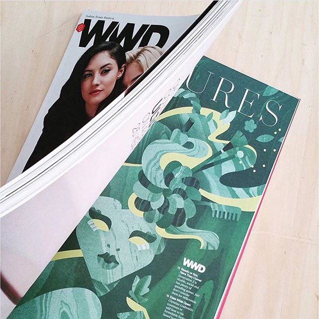 @JanineRewell's marbled mermaid decorates the pages of fashion bible @wwd!