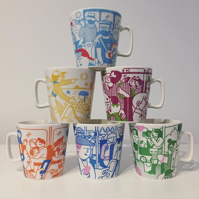Rami Niemi collaborated with our friends at @kokoromoi on a set of six mugs for @hsl_hrt and here's the outcome. Can't wait to test these on our next coffee break. #raminiemi