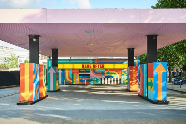 "@craigandkarl converted a derelict petrol station in London into an installation. ""We view this project as the petrol station's second life,"" Craig & Karl say. ""Which led us to use the words 'Here After' as a reference to heaven or utopia. Now that the petrol station has fulfilled its duty, so to speak, it's free to enjoy itself."" Photo credit: @jamiemcgregorsmith"