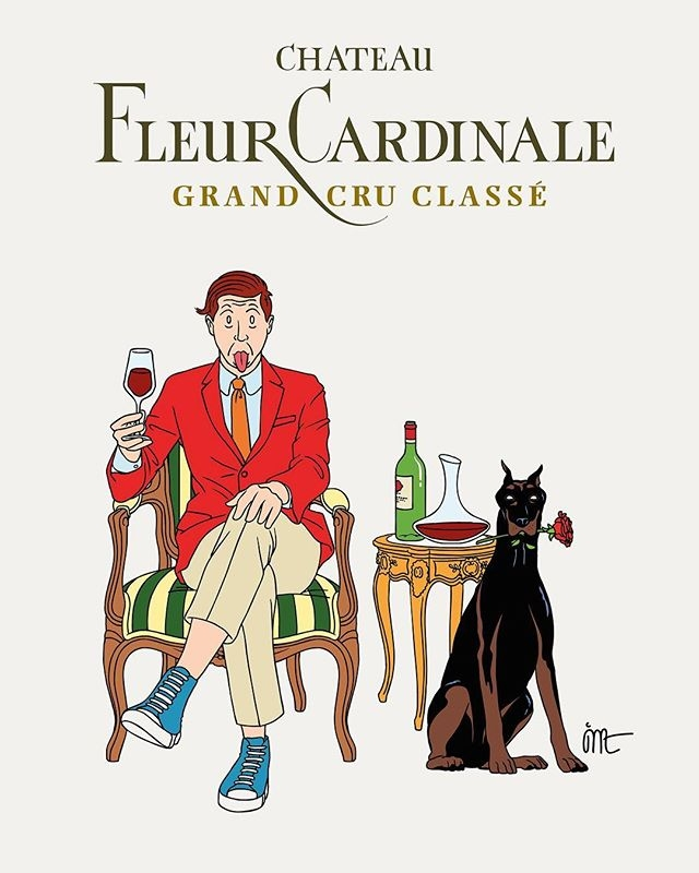 We love this label design by @jeanmicheltixier for a limited-edition of Château Fleur Cardinale 2015 (@fleurcardinale), produced by @junartprojects. #fleurcardinale